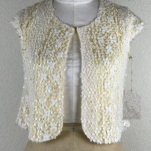 Sequin Short Sleeves Bolero Size S